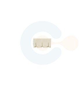 Conector Encaixe Macho p/ PCI 7,62mm Horizontal c/ laterais 3 vias Branco