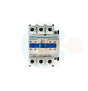 Contator 3P NC1-65A Bobina 380VCA Contato 1NA+1NF