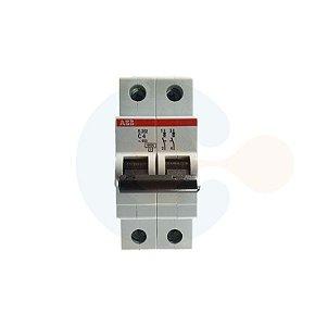 Mini Disjuntor 2P S202 Curva C 4A 6kA