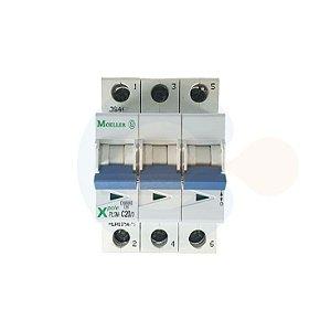 Mini Disjuntor 3P PLSM Curva C 20A 10kA