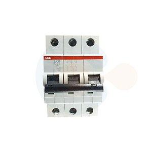 Mini Disjuntor 3P S203 Curva C 32A 6kA