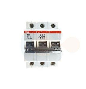 Mini Disjuntor 3P S63 Curva C 6A 3kA