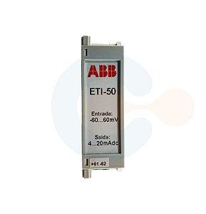 Transdutor de Tensão CC ETI50 -60 a 60 VDC/ 4 a 20 mADC/ ALIM 20 A 60 VAC/VDC