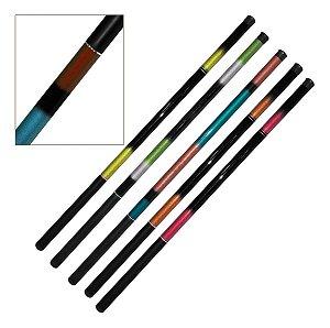 Kit 5 Varas de Mão Telescopica 50% Carbono 3,60m 6 Lbs