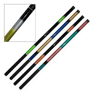 Kit 4 Varas de Mão Telescopica 50% Carbono 3,6m 6 Lbs