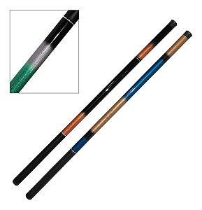 Kit Pesca 2 Varas de Mão Telescópica 40% Carbono 3,60m 9 Lbs