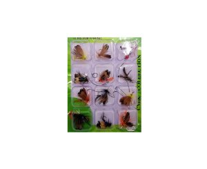 Pesca Isca Artificial Fly Mosca Fishing com Anzol 12 Unid.
