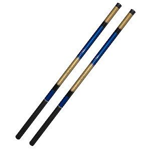 2 Varas 100% Fibra de Vidro 5,40 Luxo 1 Capa 1 Vara + Isca
