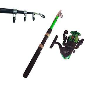 Kit Molinete de Pesca e Vara de Pesca 210 cm CMIK