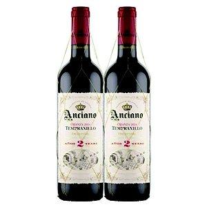 KIT 2 ANCIANO WINES CRIANZA 2 ANOS TEMPRANILLO 2015