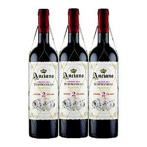 KIT 3 ANCIANO WINES CRIANZA 2 ANOS TEMPRANILLO 2015
