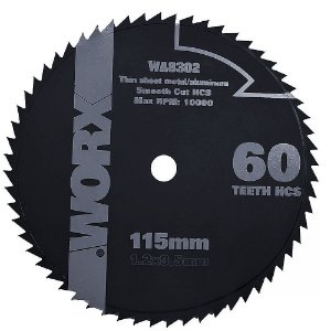 DISCO PARA METAL MINI SERRA WX429 115MM 60 DENTES WORX WA8302