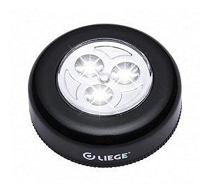 Luminaria De Toque 3 Leds A Pilha Preto Liege - 858242