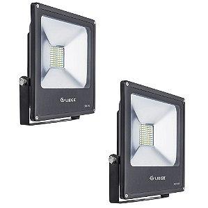 COMBO 2 REFLETORES DE LED 30W BIVOLT PRETO LIEGE 497932