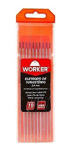ELETRODO TUNGSTÊNIO PONTA VM 2,4 MM 10 PEÇAS WORKER 709590