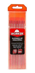 ELETRODO TUNGSTÊNIO PONTA VM 3,2MM 10 PEÇAS WORKER 709603