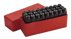 Jogo Punção Marcador Alfabeto A-z 5/32'' 4mm Worker 142093