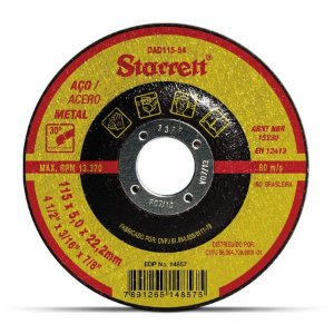 DISCO DE DESBASTE 115X5,0X22,2MM STARRETT DAD115-54