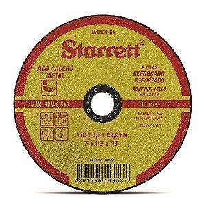 "DISCO DE CORTE 7"" X 3MM X 7.8"" STARRETT DAC180-34"