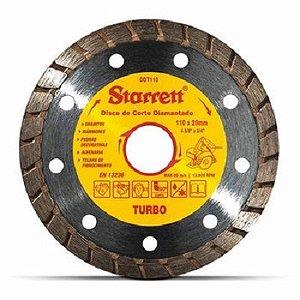 DISCO DIAMANTADO TURBO DE CORTE 110MM DDT 110 STARRETT