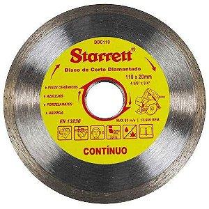 DISCO DE CORTE CONTÍNUO DIAMANTADO STARRETT DDC110