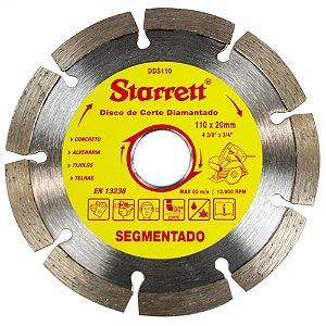DISCO DE CORTE SEGMENTADO DIAMANTADO STARRETT DDS110