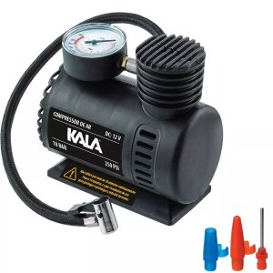 COMPRESSOR PORTÁTIL AUTOMOTIVO 250PSI 18BAR 12V KALA 972940