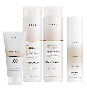 Braé Bond Angel - Kit Home Care Shampoo Condicionador Leave-in e Pós Química