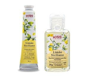 Kiss NY Kit Creme de Mãos + Álcool Gel - Limão Siciliano