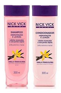 Nick Vick Nutri Hair- Hidratação e Leveza Kit Shampoo e Condicionador
