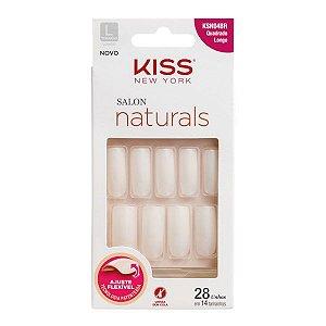 Kiss Unhas Postiças Salon Naturals Quadrado Longo