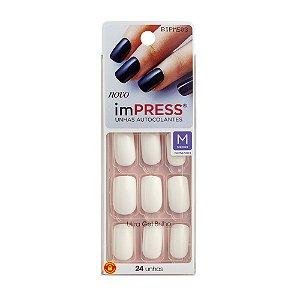 Kiss Impress Unhas Autocolantes Cotton Candy  Médio
