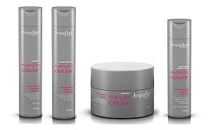 Acquaflora Nutrição Celular - Kit Shampoo Condicionador Máscara e Hidratante sem Enxágue