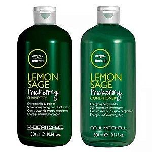 Paul Mitchell Tea Tree Lemon Sage Thickenning - Kit Shampoo e Condicionador