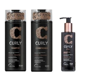 Truss Curly - Kit  Shampoo Condicionador e Curly Fix