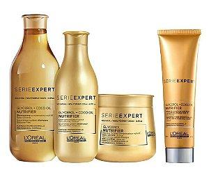 Loreal Serie Expert Nutrifier - Kit Shampoo Condicionador Máscara e Creme de Pentear