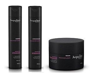 Acquaflora Reconstrutor - Kit Shampoo Condicionador e Máscara