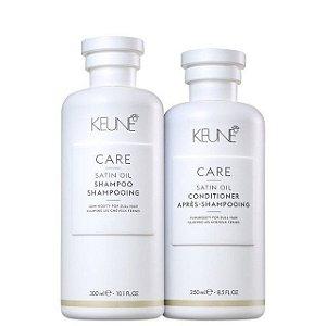Keune Satin Oil - Kit Shampoo e Condicionador
