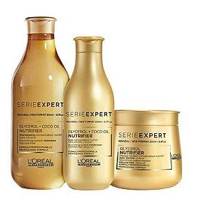 Loreal Serie Expert Nutrifier - Kit Shampoo Condicionador e Máscara