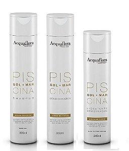 Acquaflora Piscina - Kit Shampoo Condicionador e Hidratante sem Enxágue
