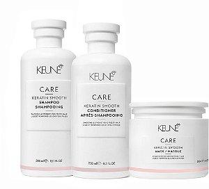 Keune Keratin Smooth - Kit Shampoo Condicionador e Máscara