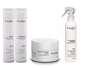 Acquaflora Antioxidante Cabelos Normais - Kit Shampoo Condicionador Máscara e Spray