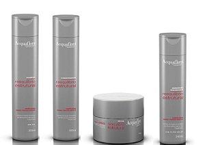 Acquaflora Reequilíbrio Estrutural - Kit Shampoo Condicionador Máscara e Hidratante sem Enxágue