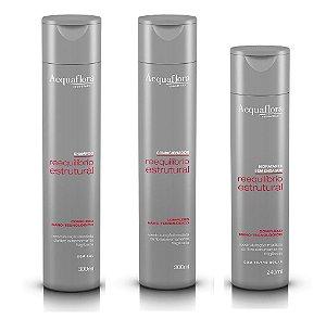 Acquaflora Reequilibrio Estrutural - Kit Shampoo Condicionador e Hidratante sem Enxágue