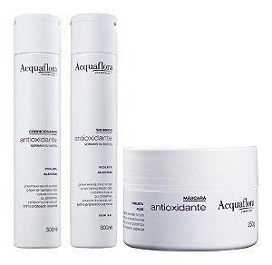 Acquaflora Antioxidante Cabelos Normais - Kit  Shampoo Condicionador e Máscara