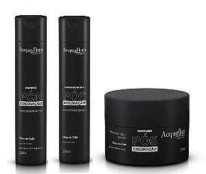 Acquaflora Pós Coloração - Kit Shampoo Condicionador e Máscara