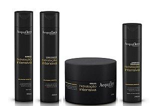 Acquaflora Hidratação Intensiva - Kit Shampoo Condicionador Máscara e Hidratante sem Enxágue