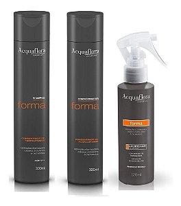 Acquaflora Forma - Kit Shampoo Condicionador e Umidificador De Cachos