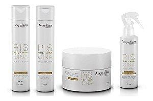 Acquaflora Piscina -  kit Shampoo Condicionador Máscara e Fluido Iluminador