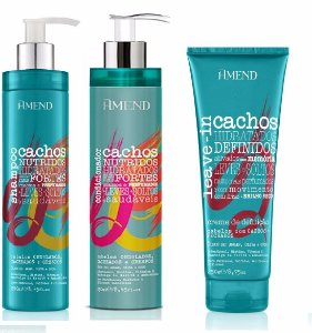 Amend Cachos - Kit Shampoo Condicionador e Leave-in Cachos Fechados